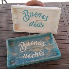 Ideas que mejoran tu vida Deco Paint, Lap Tray, Tray Decor, Easy Gifts, Painting On Wood, Chalk Paint, Toy Chest, Stencils, Creations