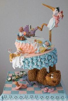 My baby cake! Crazy Cakes, Fancy Cakes, Anti Gravity Cake, Gravity Defying Cake, Unique Cakes, Creative Cakes, Gorgeous Cakes, Amazing Cakes, Fondant Cakes