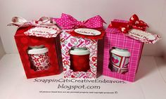 Welcome to Scrappin' Cat's Creative Endeavors: Hello Life Valentines & Mini Coffee Cup Gifts