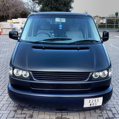 VW T4 Transporter - long nose - matt black - Via: http://instagram.com/333morgan333