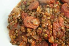 Lentils with Chorizo Recipe WW. I offer you a Weight Watchers recipe for Chorizo Lentils. A simple recipe and easy to prepare. This recipe represents 8 sp / person Chorizo Recipes, Lentil Recipes, Easy Healthy Recipes, Meat Recipes, Healthy Snacks, Chicken Recipes, Easy Meals, Healthy Eating, Snacks Recipes