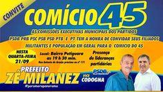 O candidato a prefeito Zé Milanez juntamente do com seu vice Osvaldo Codogna e…