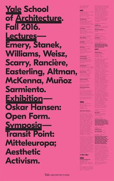 Michael Bierut, graphic design, poster, typography, pink