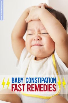 Baby constipation food & physical remedies that will STOP your baby's pain.