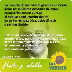 Jorge Fernández Díaz debe dimitir o ser destituido por la vergüenza de las muertes de inmigrantes en Ceuta