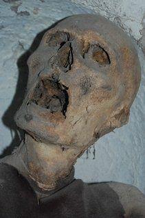 Mumie in der Catacombe dei Cappuccini-Monk mummy