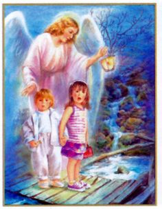 Angel of God my guardian dear, to whom his love commits me here, ever this day be at my side to light and guard, rule and guide.