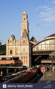 Top View Of Trains On The Railway Platform Of Light - Light District Stock Photo, Royalty Free Image: 97943257 - Alamy