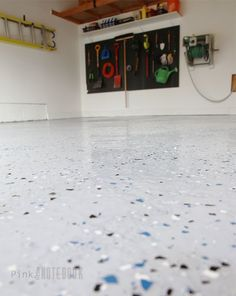 10 things to know before you epoxy your garage pinterest dust diy garage floor tutorial rocksolid polycuramine solutioingenieria Choice Image