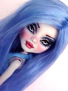 True Blue OOAK Custom Monster High Frankie Dressed Repaint by Alison | eBay