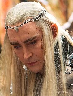 It took me a moment during the film to realise - the black streaks and spots of dirt on Thranduil's face... is actually orc blood...