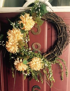 End of Summer wreath by TheMusicBoxx on Etsy