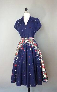 vintage 1960s ALFRED WERBER designer dress (w16aa01-1)