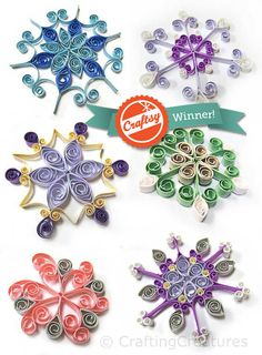 quilling snowflake grid