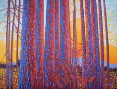 Elizabeth Evans - Forest Sunset.jpg (2451×1866)
