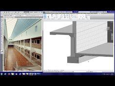 Floor finishes, curtain walls, soffits, panel doors in revit tutorial