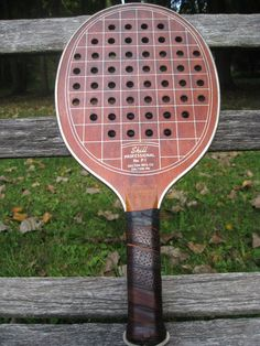 dc5848e7a4d290 Vintage Wood 1960 s Racquetball Paddle Dalton by TreeTownPaper