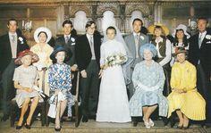 HRH Prince Richard of Gloucester weds Birgitte van Deurs July 8, 1972 in a simple country wedding near the grooms home.