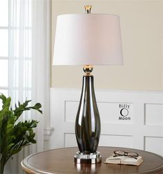 Uttermost Belinus Gray Glass Table Lamp 26154