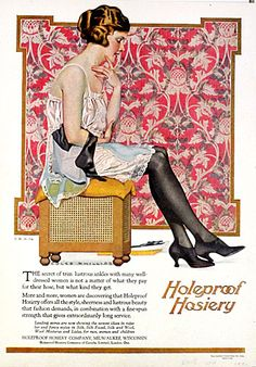 Antique Magazine Ad - 1920 Holeproof Hosiery Advertisement - Artist Coles Phillips