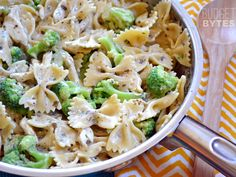 Creamy Pesto Pasta with Chicken & Broccoli - Budget Bytes (can make without chicken)