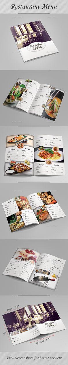 #Restaurant #Menu - #Food Menus Print Templates Download here: https://graphicriver.net/item/restaurant-menu/19689043?ref=alena994