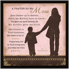 Simple Expressions - Prayer For My Mom Prayers For My Mother, Prayer For Mothers, Mom Prayers, Prayer For You, Blessed Mother, Everyday Prayers, Catholic Prayers, Morning Prayers, Prayers For Help
