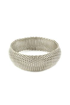 Classic Mesh Bracelet in Silver on Emma Stine Limited