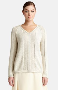 Lafayette 148 New York 'Luminous' Cotton Blend Sweater available at #Nordstrom