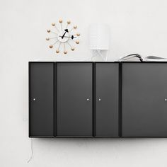 Classic Montana cabinets in black. #montana #furniture #black #cabinets #danish #design #storage #shelving #system #modular #interior