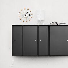 Classic Montana cabinets in black. #montana #furniture #black #cabinets #danish #design #storage #shelving #system #modular #interior