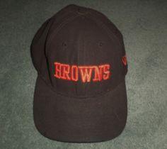 Men's Orange & Brown CLEVELAND BROWNS 9FORTY NEW ERA NFL Hat, Velcro Strap…
