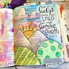 Psalm 121:2 Bible Journaling- Rebecca Rios