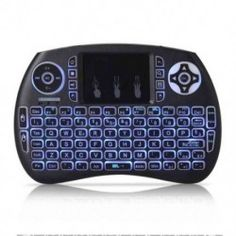 EARME iPazzport Wireless Mini Keyboard,RGB 3 Color Mini Keyboard Backlit with Touchpad and Mouse Remote Control Compatible with Xbox Android TV Box, Smart TV Mini Keyboard, Keyboard With Touchpad, Computer Keyboard, Mac Os, Smart Tv, Xbox 360, Linux, Tv Android, Movies