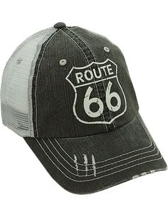 4c4b81ebbed Route 66 Denim Cap Unisex Styling - One Size Fits Most - Adjustable Back.  Denim CapMesh ...