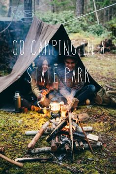 Go camping in a state park