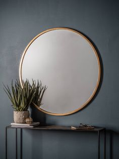 Buy Antique Gold Cade Round Mirror from our Mirrors range at John Lewis & Partners. Hall Mirrors, Gold Framed Mirror, Entryway Mirror, Living Room Mirrors, Round Mirrors, Antique Gold Mirror, 3 Mirror Wall Decor, Round Bathroom Mirror, Mirror Ideas