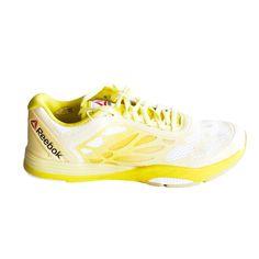 Reebok Les Mills Cardio Ultra Women Shoes White Yellow Filament Stinger size  8.5  Reebok   bfbb3aed2