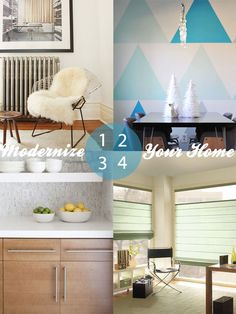 4 Ways to Modernize Your Home - love these modern decorating touches! #decor #blinds