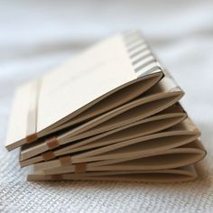 Pocket Notebooks, Mini Journals via Etsy.