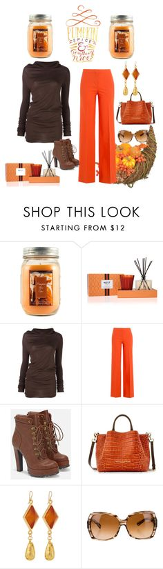 """Untitled #1119"" by princhelle-mack ❤ liked on Polyvore featuring Holiday Memories, Nest Fragrances, Rick Owens, Diane Von Furstenberg, JustFab, Dooney & Bourke and Devon Leigh"