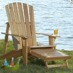 WOOD Magazine shows you how to build this comfy Adirondack chair. The perfect pl. - WOOD Magazine shows you how to build this comfy Adirondack chair. The perfect pl. Ikea Outdoor, Rustic Outdoor Furniture, Diy Home Decor Rustic, Outdoor Chairs, Outdoor Decor, Antique Furniture, Wooden Furniture, Rustic Sofa, Furniture Dolly