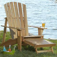 adirondack chair leg rest plans