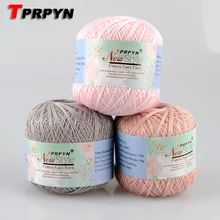 TPRPYN 1Pc=50g Natural Smooth lace cotton yarn knitting yarn for knitting crochet cotton yarn 2y64440|cotton yarn|knitting yarn|yarn for knitting - AliExpress