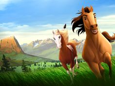 Spirit Stallion Of The Cimarron is a 2002 American animated epic western dramedy film that was released by DreamWorks. Dreamworks Movies, Dreamworks Animation, Disney And Dreamworks, Disney Movies, Cartoon Movies, Animation Movies, Comedy Movies, Spirit The Horse, Spirit And Rain