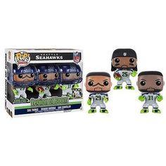 36c55f7ff This NFL Funko POP set includes three Seattle Seahawks Legion of Boom  greats  Earl Thomas