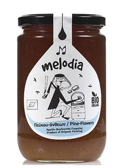 """ΒΙΟΛΟΓΙΚΟ ΜΕΛΙ ΠΕΥΚΟΥ & ΑΝΘΕΩΝ """"MELODIA"""" 850gr – Ampari.gr Ketchup, Salsa, Honey, Jar, Bottle, Food, Salsa Music, Restaurant Salsa, Flask"""