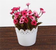 Mary Case Saksılı Yapay Çiçek 649D Papatya Fuşya-Pembe                                   (MGZ0033115)