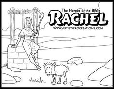Rachel and Leah coloring page from Misc. Artists category