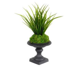 I pinned this Faux Grass & Moss Arrangement from the New Black event at Joss and Main!